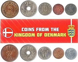هواية الملوك عملات مختلفة - العملات الأجنبية الدنماركية القديمة والتحصيلية لجمع الكتب - مجموعات فريدة من المال التذكارية ا...