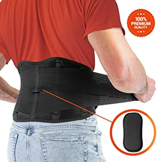 FITGAME Back Brace – Lower Back Support Belt for Pain Relief | Sciatica, Herniated Disc and Scoliosis for Men and Women – Adjustable Straps and Removable Lumbar Pad (X-Large)