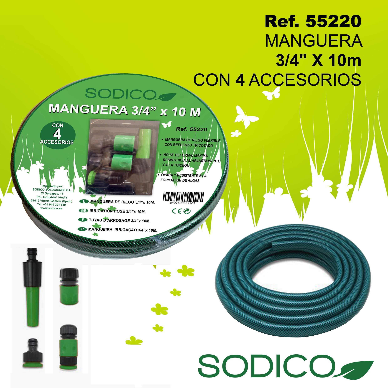 Sodico 55220 Manguera, Jardin: Amazon.es: Jardín