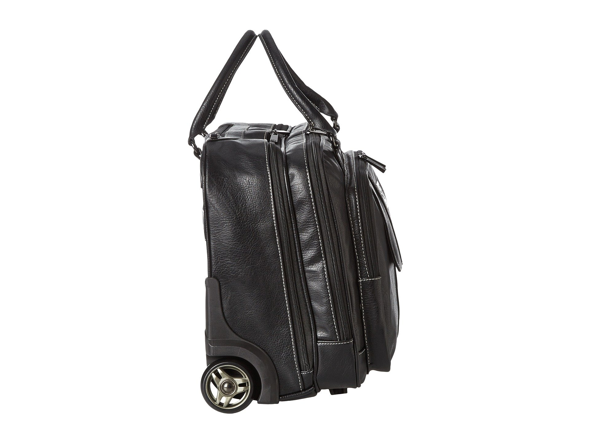 Vinyl Wheeled Double Gusset Pebbeled Kenneth Cole zip Top Black Reaction Computer Case 8tqwWT6