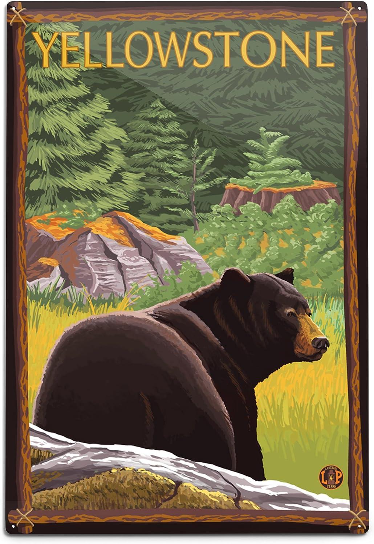 Lantern Press Yellowstone National Park Brand Max 72% OFF new Black Bear Wyoming in