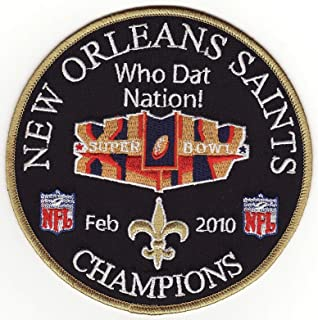 Iron on Patch New Orleans Saints Super Bowl 44 XLIV Champions 5 inches
