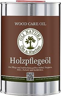 OLI-NATURA Holz-Pflegeöl für innen geeignet für Möbel, Treppe, Parkett und Holz-Boden, 1 Liter, Farblos/natur