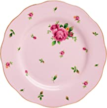 "Royal Albert NCRPNK25811 China New Country Roses Vintage Formal Salad Plate, 8.1/3"", White/Pink"