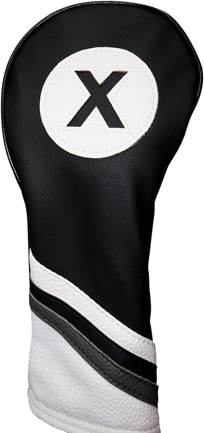 Golf Headcover Manufacturer regenerated product Black and White Leather Fairway Cov 2021 new Head Style #X