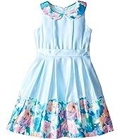 Us Angels - Matte Satin Sleeveless Peter Pan w/ Photo Reel Border Dress (Toddler/Little Kids)