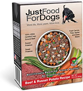 JustFoodForDogs Pantry Fresh Dog Food - Human Grade Ingredients Ready to Serve Adult Dog & Puppy Food