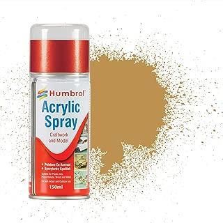 Humbrol AD6093 Matt Shade 93 Acrylic Spray, Desert Yellow, 150 mL