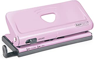 Rapesco Adjustable 6-Hole punch for Planners and 6-Ring Binders – Pink