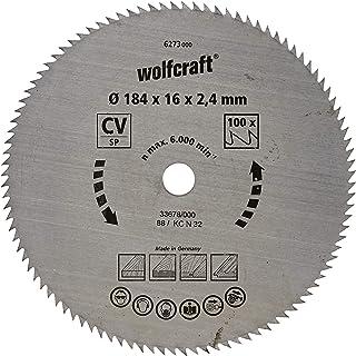 wolfcraft 6273000   Cirkelsågblad CV   Serie blå   100 tänder   ø 184 mm