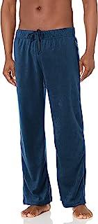 Cherokee Mens Men's Fleece Pant Pajama Bottom - Blue - X-Large