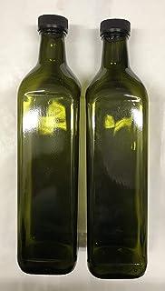 acquaverde 20 pz Bottiglia Vetro Scuro UVAG Bottiglia marasca Trasparente Olio liquore Quadra per campioncini capienza 100 ml con Tappo