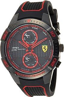 Ferrari Unisex-Adult Quartz Watch, Analog Display and Silicone Strap 830634