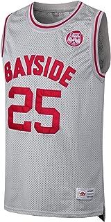 MM MASMIG Zack Morris #25 Bayside Tigers Basketball Jersey S-XXL Grey