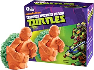 Chia Pet Teenage Mutant Ninja Turtle with Seed Pack, Decorative Pottery Planter, Easy to Do and Fun to Grow, Novelty Gift, Perfect for Any Occasion