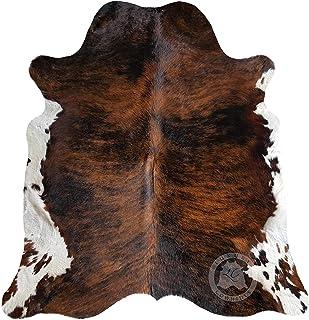 Tricolor Cowhide Rug XL Approx Size 6ft x 8ft - 180cm x 240cm