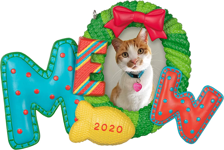 Hallmark Keepsake Ornament 2020 Year-Dated, Meowy Christmas Cat Photo Frame