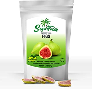 SeguFresh Freeze Dried Figs 100% Natural Food Product Nutritious and Delicious Crunchy Gluten-free Sugarfree Unsweetened Fruit No Additives Healthiest Snacks Pack Ever in Resealable Bag (pack of 2)
