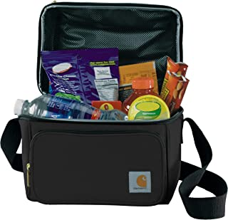 Carhartt Deluxe Dual Compartment Insulated Lunch Cooler Bag, Black