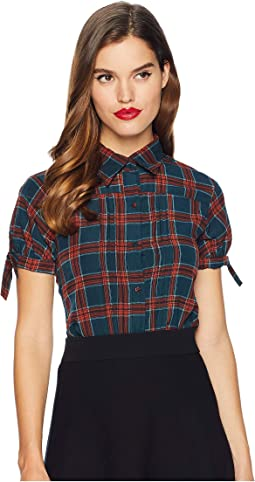 Button Up Short Sleeve Colvin Blouse