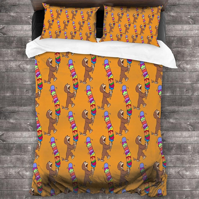 3-Piece Bedding Set lowest price - Curious George an Treat Luxu Cream Ice Has Special sale item
