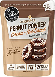 Flavored PB Co. Cocoa-Nut Donut Peanut Butter Powder, Low Carb and Only 45 Calories, All-Natural from US Farms (8 oz.)