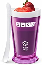 Zoku Slush and Shake Maker, Compact Make and Serve Cup with Freezer Core Creates Single-serving Smoothies, Slushies and Milkshakes in Minutes, BPA-free, Purple