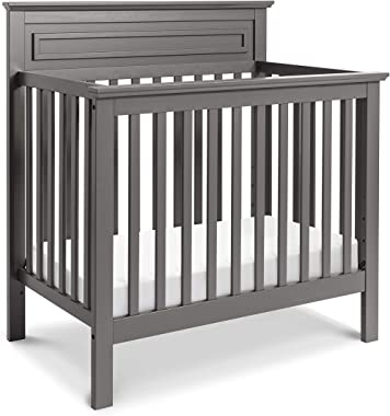 DaVinci Autumn 4-in-1 Convertible Mini Crib in Slate, Greenguard Gold Certified