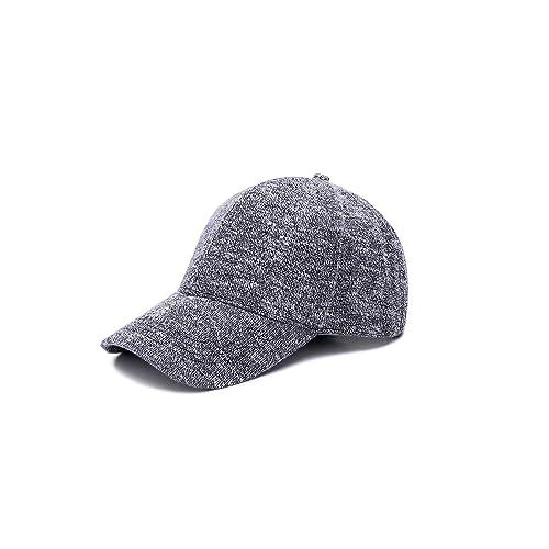 3242b8c1f69 JOOWEN Unisex Knitted Textured Baseball Cap Soft Adjustable Solid Dad Hat  for Women Men