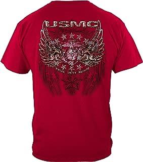 Marine Corps T Shirt USMC   Marines Eagle Elite Breed Silver Foil Shirt THM065