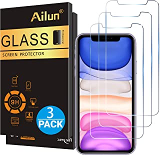 Ailun Glass Screen Protector for iPhone 11/iPhone XR 6.1 Inch 3 Pack Tempered Glass Screen Protector for Apple iPhone 11/iPhone XR 6.1 Inch Display Anti Scratch Advanced HD Clarity Work Most Case