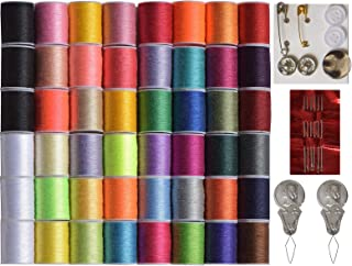 Sewing kit DIY Premium Sewing Supplies Mini Sewing kit 48 Spools of Thread 30 Most Useful Colors & 18 Multi Colors Quality Sewing pins Travel Kids Beginners LE PAON