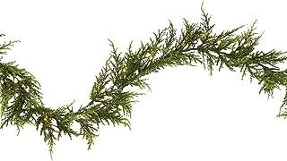NOMA Pre-Lit Fall Garland | Cedar Christmas Garland with Lights | 35 Warm White LED Bulbs | 9 Feet