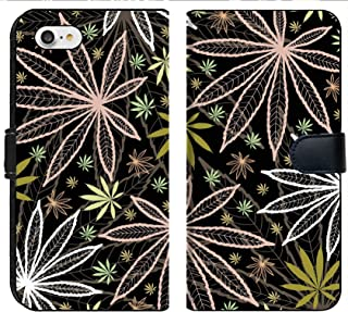 Liili Premium Phone Case Designed for iPhone 8 and iPhone 7 Flip Fabric Wallet Case Image ID: 10800827 Wallpaper with Colored leavs of Cannabis