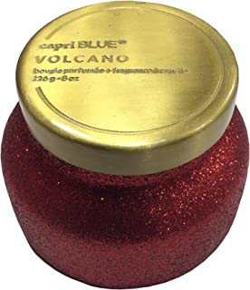 Capri Blue Volcano Candle - Red Glitter Holiday Glam 8 Ounce Jar