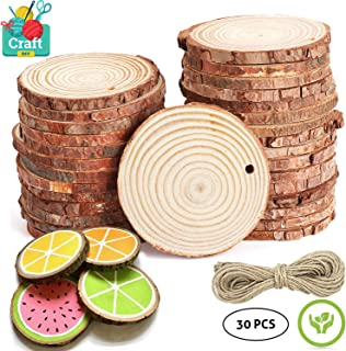 IESPANDI Natural Wood Slices 30 Pcs 2.4