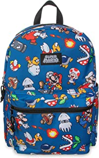 "Super Mario Brothers All Over Print 16"" Backpack"