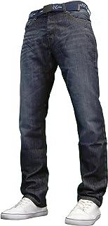 APT Mens Basic blu Bootcut gamba larga svasata lavoro casual Jeans grande