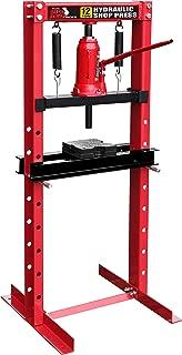 Torin Big Red Steel Frame Hydraulic Shop Press, 12 Ton (24,000 lb) Capacity