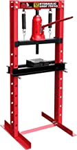 Torin Big Red Steel Frame Hydraulic Shop Press, 12 Ton Capacity