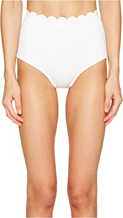 Core Solids #79 Scalloped High-Waist Bikini Bottom