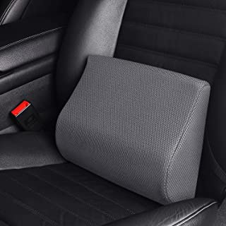 LARROUS 100% Memory Foam Lumbar Back Support Pillow for Car seat,Lower Back Pain Relief,Keeps Back Straight,with Adjustabl...