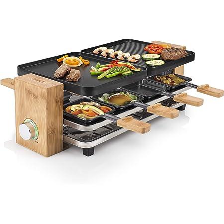 Appareil à raclette multifonction Princess Pure 8 noir - 8 personnes - 1 200 W