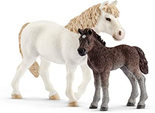 Schleich Farm World Pony Mare and Foal 2-Piece Educational Playset for Kids Ages 3-8