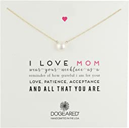 Dogeared - I Love Mom Pearl Necklace