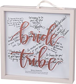 Primitives by Kathy Framed Glass Memory Box for Members of the Bride Tribe to Write a Note