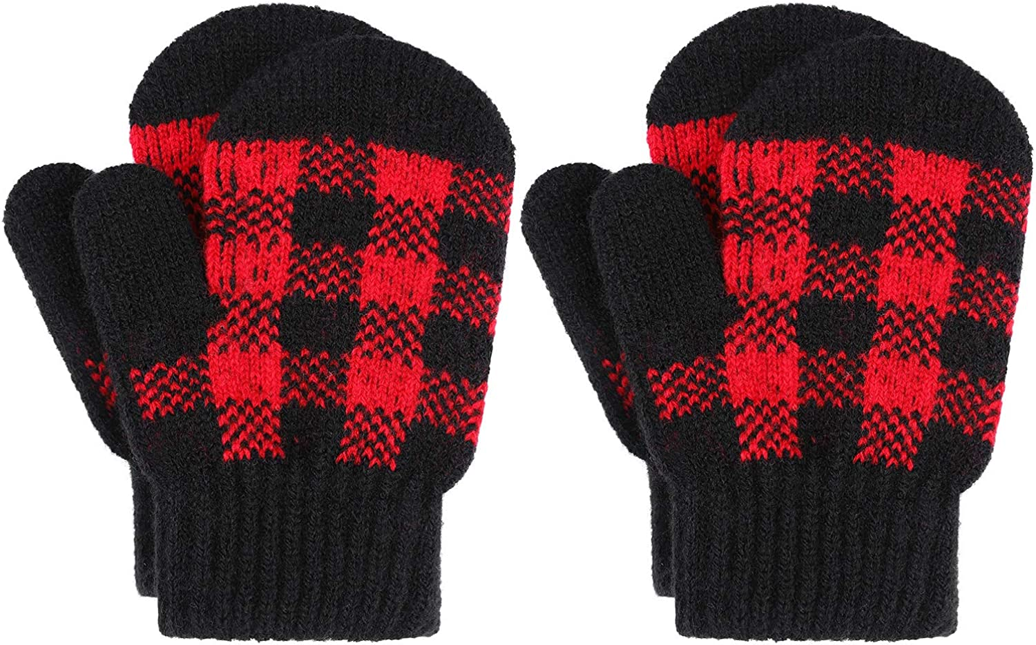 Cooraby 2 Pairs Special price Toddler Winter Stretch Knitted Mittens B Sale
