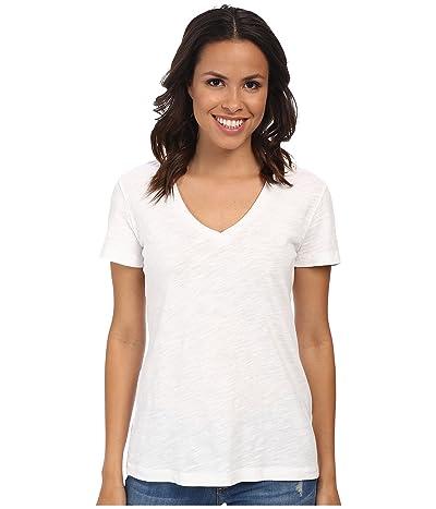 Mod-o-doc Slub Jersey S/S V-Neck Tee (White) Women