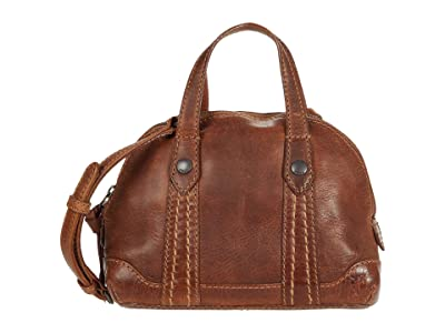 Frye Melissa Mini Domed Crossbody (Cognac) Handbags