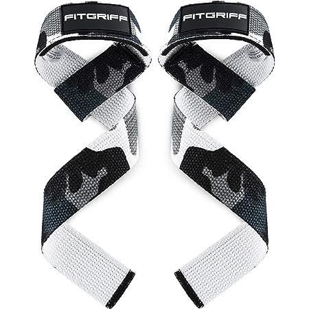 Fitgriff® Straps Palestra (Imbottito) - Professionali Cinghie Sollevamento Pesi - Crossfit, Gym, Bodybuilding, Powerlifting - Donna & Uomo